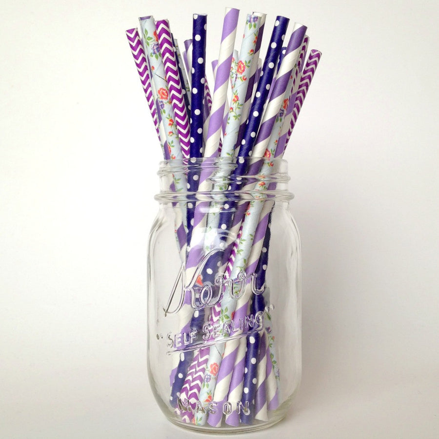 purple straws