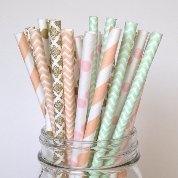 Shabby Chic Multipack Paper Straws