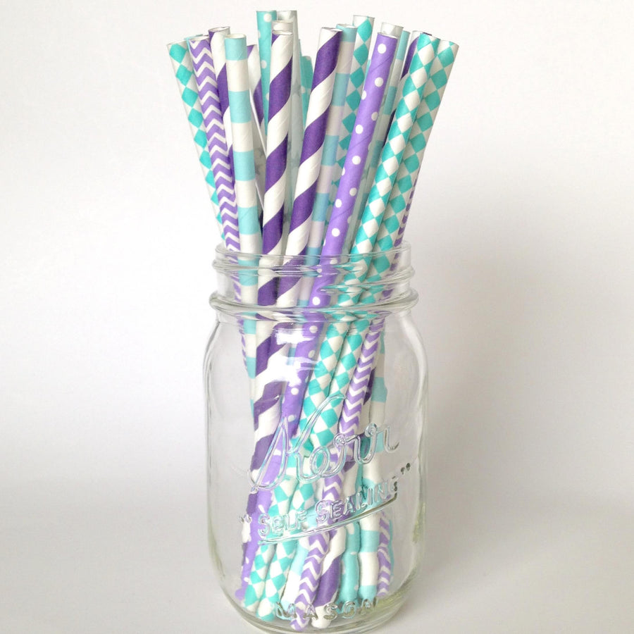 Frozen Birthday Party Paper Straws