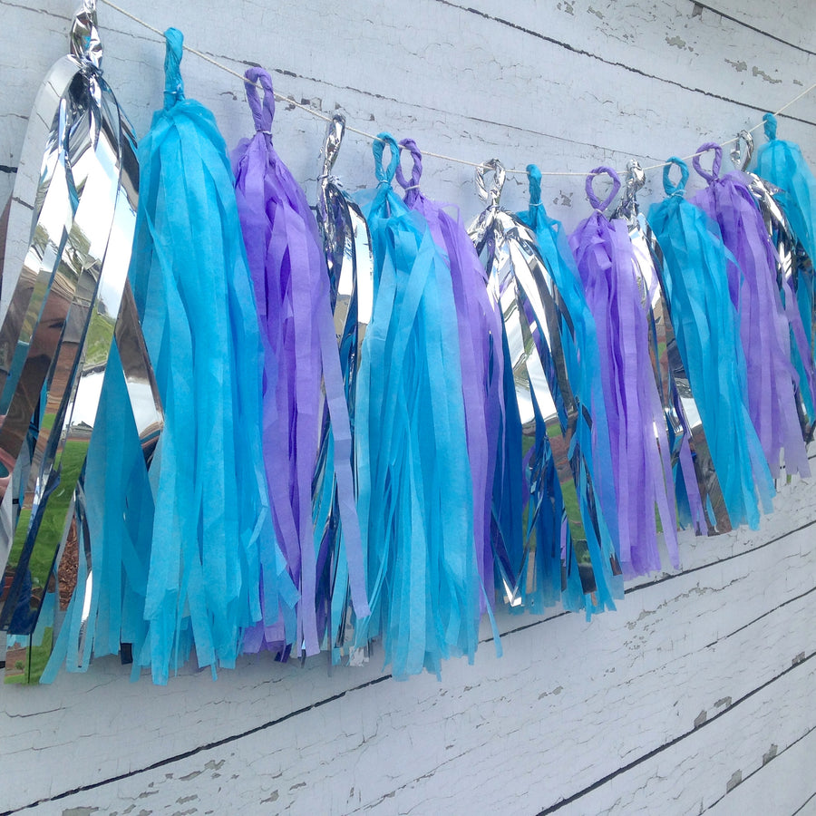 Frozen Princess Party Tissue Tassel Garland Kit