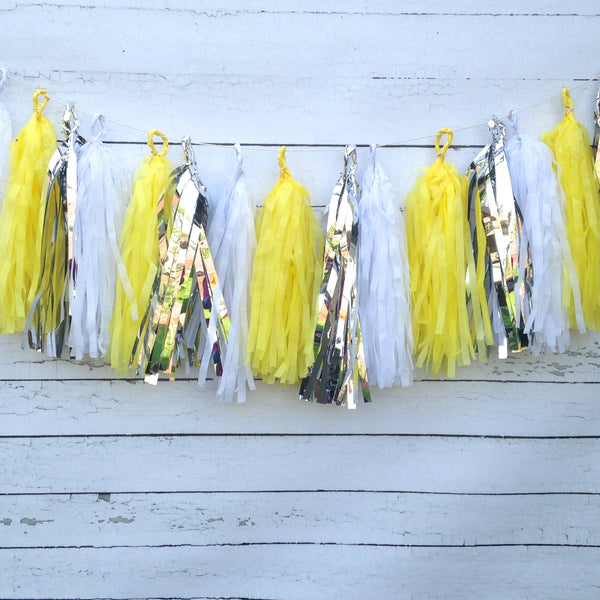 Sunny Yellow, Silver Tassel Garland Kit