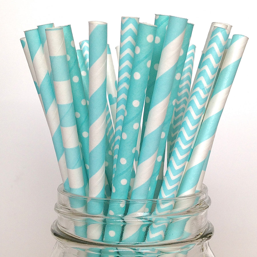 It's a Boy Blue Baby Shower Straws