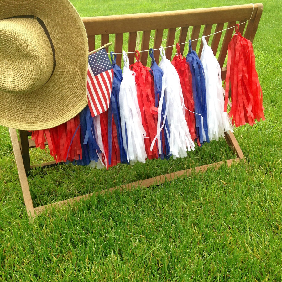 4th of july tassel garland
