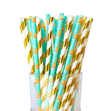 Birthday cake straws