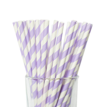 lavender striped straws