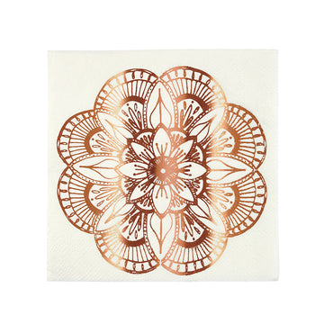 rose gold dessert napkins