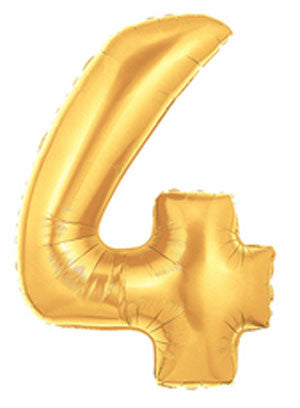 gold 4 balloon