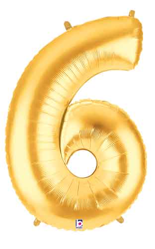 gold 6 balloon