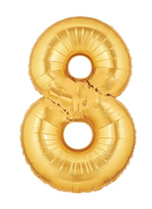 gold 8 balloon