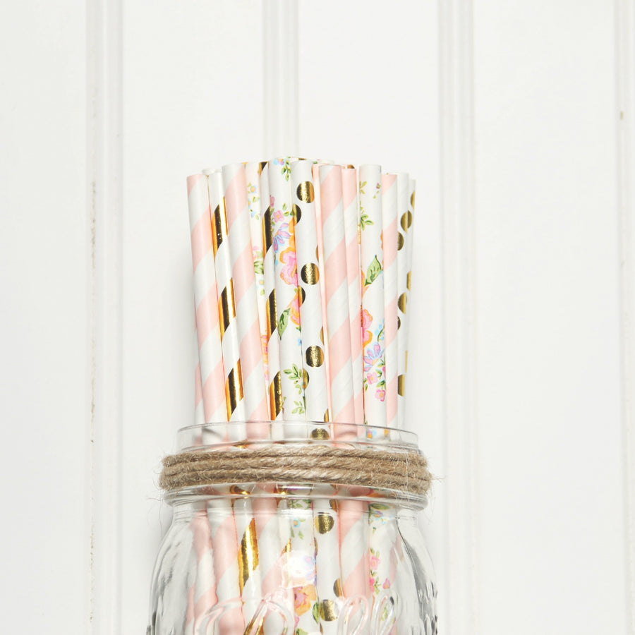 straws in mason jar
