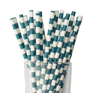 Navy Blue Tube Straws