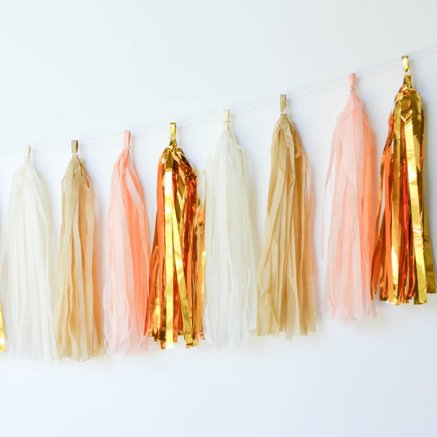 peach gold garland