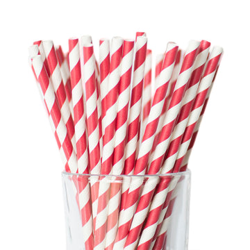 deep red straws