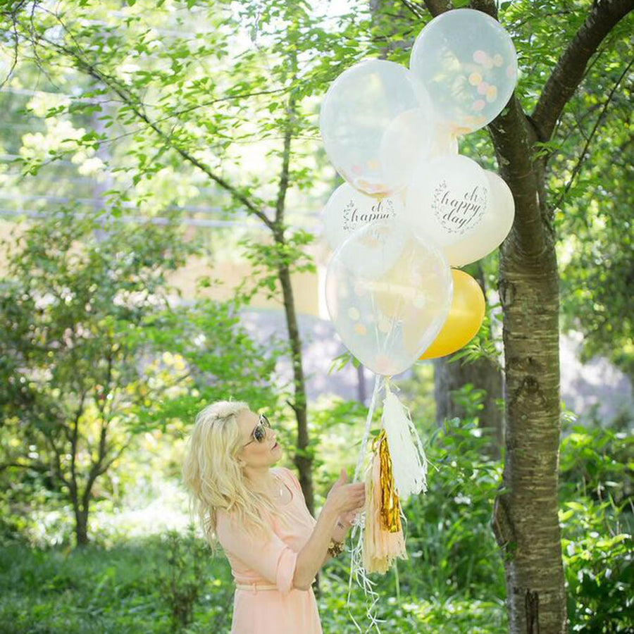 confetti balloon bouquet
