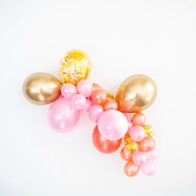 balloon arch kit pink gold