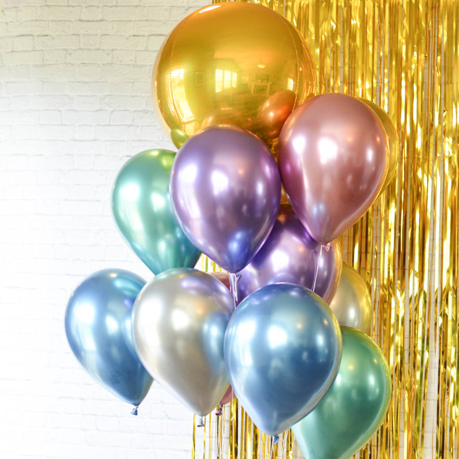 chrome balloon backdrop