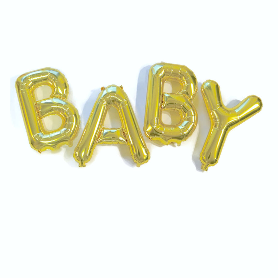 Gold baby balloon letters