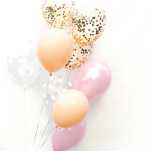 Girl Baby Shower Confetti Balloon Bouquet