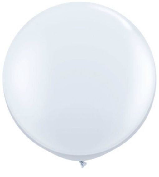 Jumbo White Party Balloon, 36 in. QTY. 1