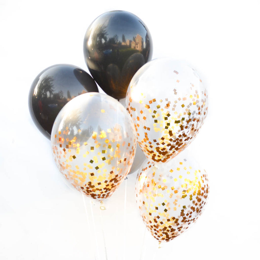 Black and White Balloon Bouquet