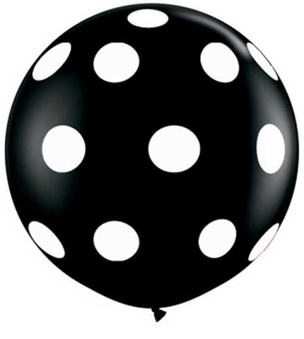 black and white polka dot balloon