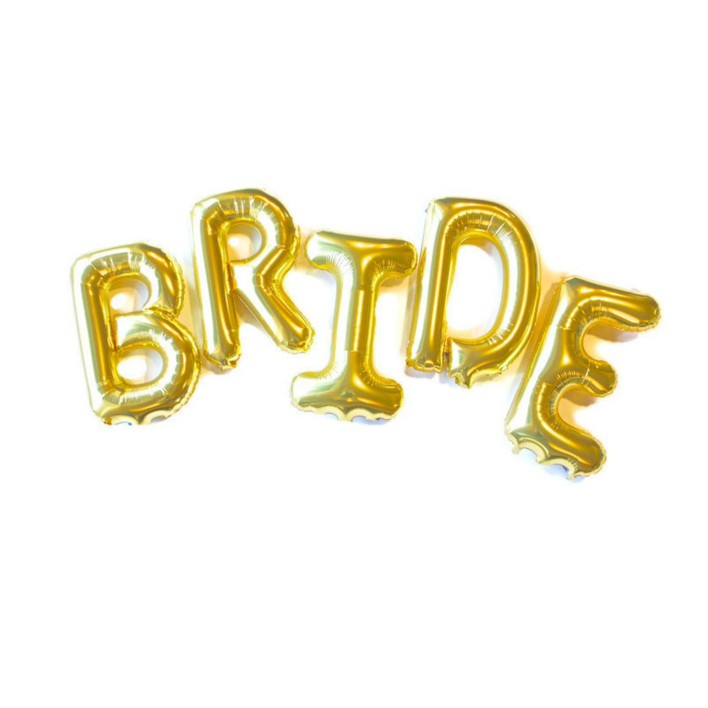 Gold Bride Balloon Letters, A Bridal Shower Must-have