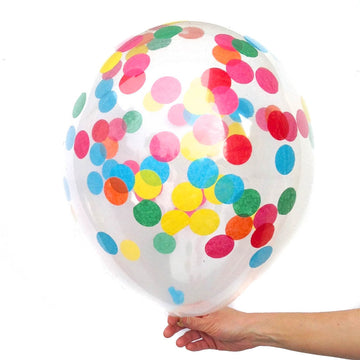 bright confetti balloon