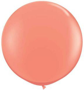Jumbo Coral Party Balloon, 36 in. QTY. 1