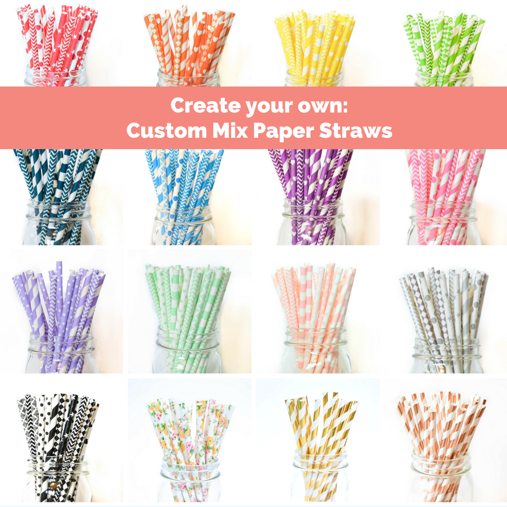 pick your color paper straws