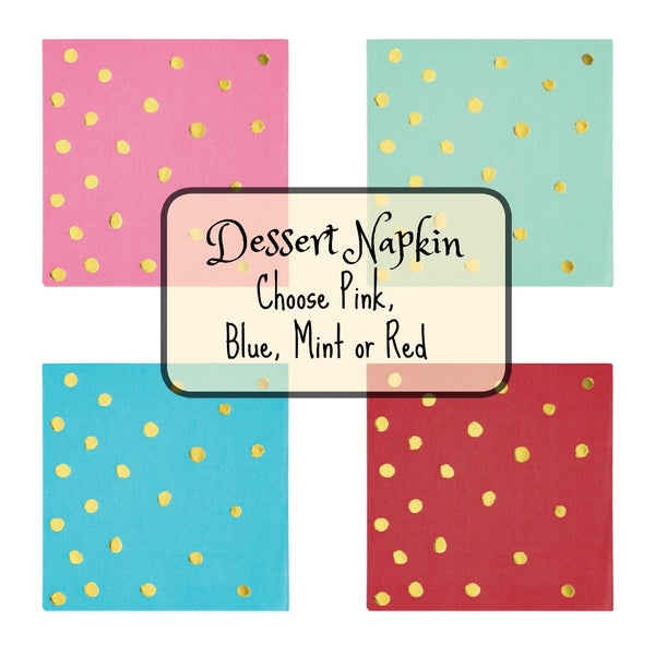 dessert paper napkins assorted colors