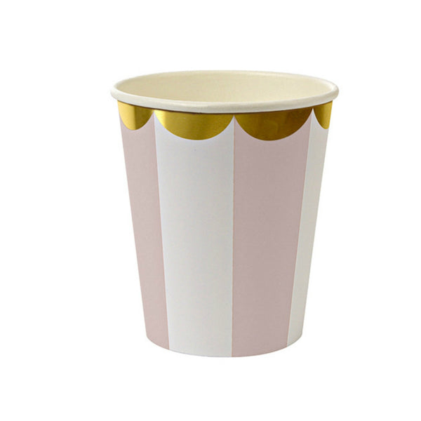 dusty rose paper cups