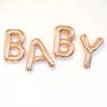 Rose Gold BABY Balloon, the perfect baby announcement!