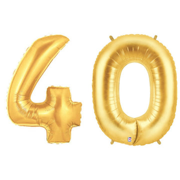 gold 40 balloon