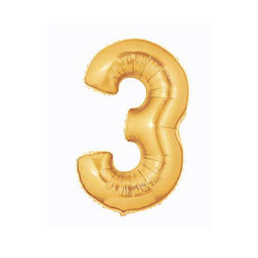 gold three balloon
