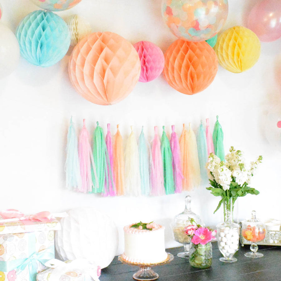 pastel honeycomb decor