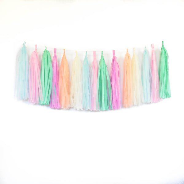 unicorn tissue tassel garland kit