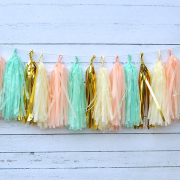 Peach Mint Garland