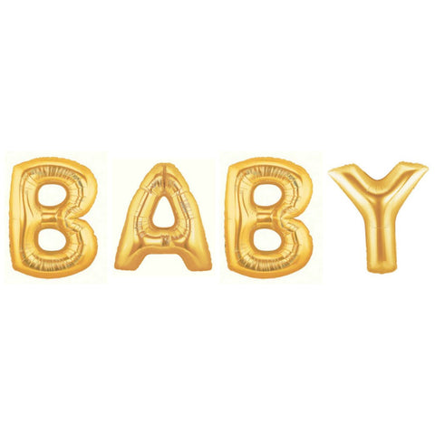 giant gold baby balloon