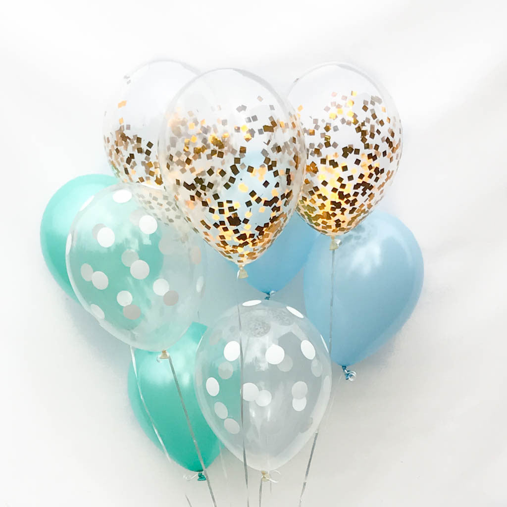 boy baby shower balloons