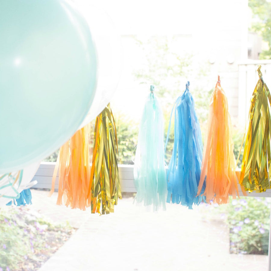 bright boy tissue tassel garland