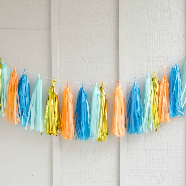 monster party garland