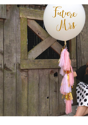 Bride Balloon with Decal