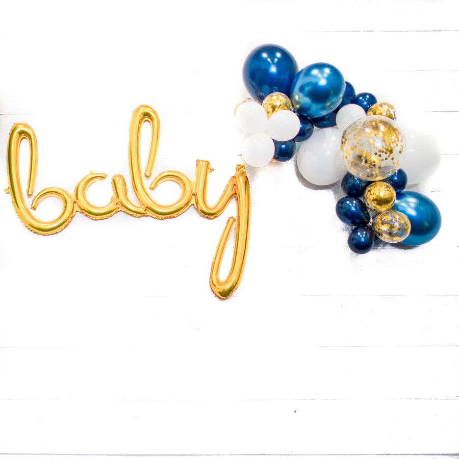 navy blue baby balloons