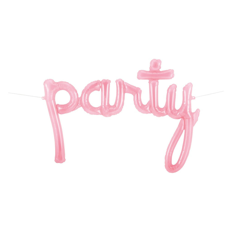 pink party balloon