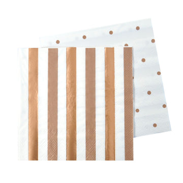 Rose Gold Cocktail Party Napkins