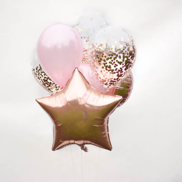balloons rose gold