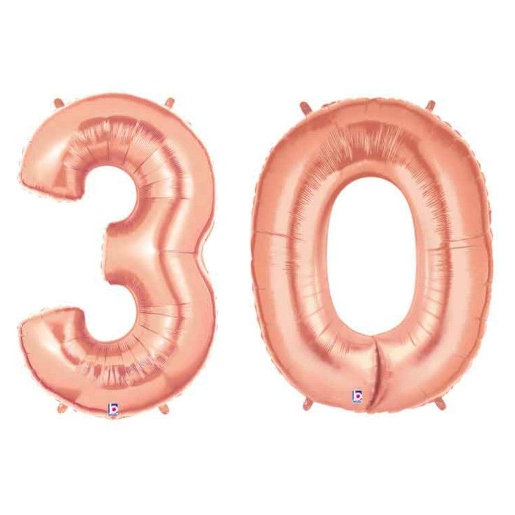 Giant Rose Gold 30 Balloon