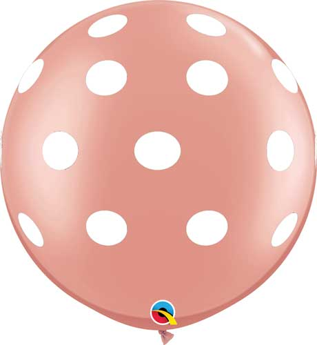 rose gold polka dot balloon