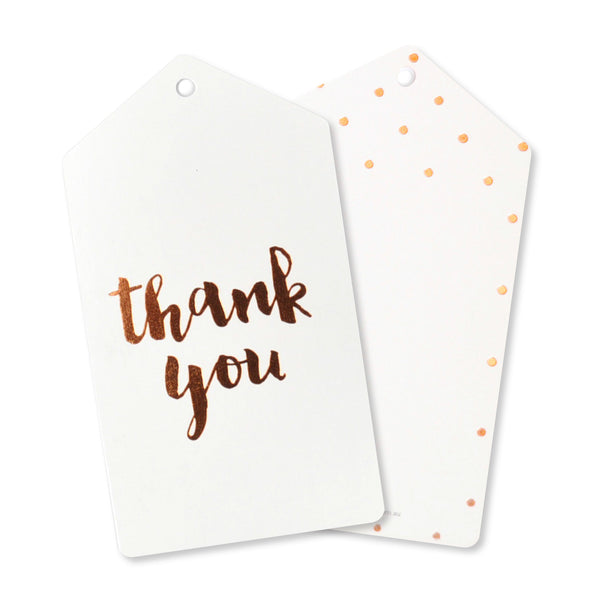 Rose Gold Thank you tags, set of 10