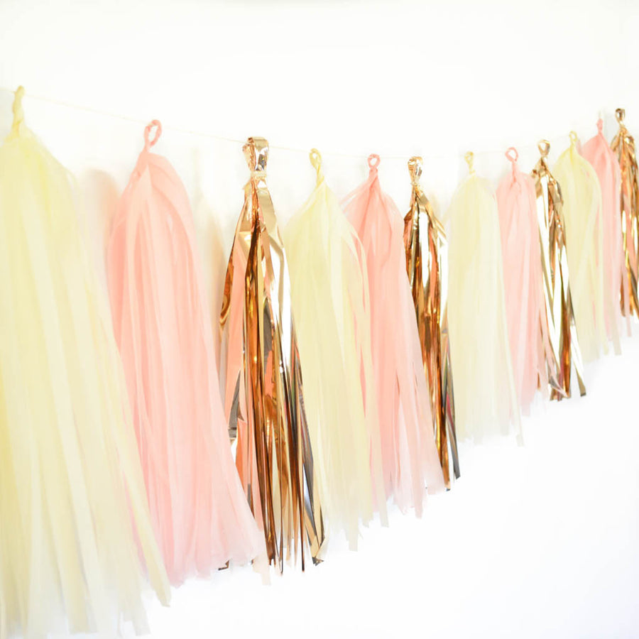 rose gold tassel garland
